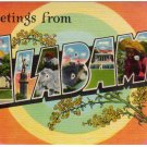 ALABAMA large letter linen postcard Colourpicture