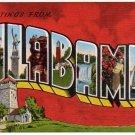 ALABAMA large letter linen postcard Kropp