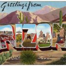 ARIZONA large letter linen postcard Kropp