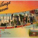 DELAWARE large letter linen postcard Tichnor