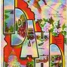 IDAHO large letter linen postcard Kropp