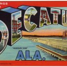 DECATUR, Alabama large letter linen postcard Teich