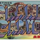 GRAND CANYON, Arizona large letter linen postcard Teich