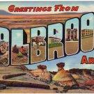 HOLBROOK, Arizona large letter linen postcard Teich