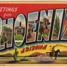 PHOENIX, Arizona large letter linen postcard Teich