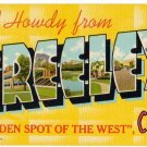 GREELEY, Colorado large letter linen postcard Teich