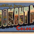 LOOKOUT MT., Colorado large letter linen postcard Teich