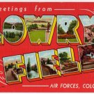 LOWRY FIELD, Colorado large letter linen postcard Teich