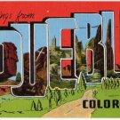 PUEBLO, Colorado large letter linen postcard Kropp