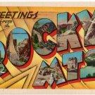 ROCKY MTS. large letter linen postcard Metropolitan