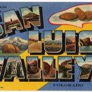 SAN LUIS VALLEY, Colorado large letter linen postcard Teich