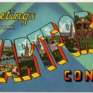 HARTFORD, Connecticut large letter linen postcard Colourpicture