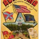 ALABAMA large letter linen postcard Teich
