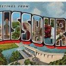 MISSOURI large letter linen postcard Kropp