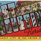 ST. AUGUSTINE, Florida large letter linen postcard Kropp