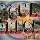 COEUR D'ALENE, Idaho large letter linen postcard Tichnor