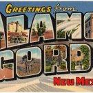 ALAMOGORDO, New Mexico large letter linen postcard Teich