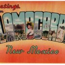 ALAMOGORDO, New Mexico large letter linen postcard Colourpicture