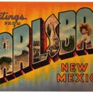 CARLSBAD, New Mexico large letter linen postcard Colourpicture