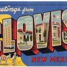 CLOVIS, New Mexico large letter linen postcard Teich