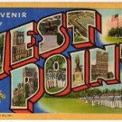 WEST POINT, New York large letter linen postcard Teich