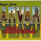 HARVARD, Illinois large letter linen postcard Teich