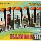 VANDALIA, Illinois large letter linen postcard Teich