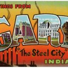 GARY, Indiana large letter postcard Teich