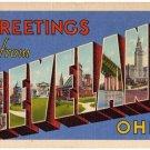 CLEVELAND, Ohio large letter linen postcard Teich