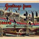 CONNEAUT, Ohio large letter linen postcard Teich