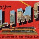 LIMA, Ohio large letter linen postcard Kropp