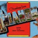 OKLAHOMA large letter linen postcard Kropp