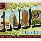 ENID, Oklahoma large letter linen postcard Teich