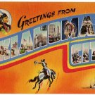 OKLAHOMA CITY large letter linen postcard Colourpicture