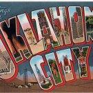 OKLAHOMA CITY large letter linen postcard Kropp