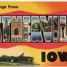 ESTHERVILLE, Iowa large letter linen postcard Teich