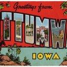 OTTUMWA, Iowa large letter linen postcard Kropp