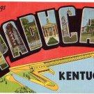 PADUCAH, Kentucky large letter linen postcard Kropp