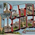 BATON ROUGE, Louisiana large letter linen postcard Kropp