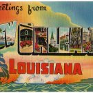 NEW ORLEANS, Louisiana large letter linen postcard Colourpicture