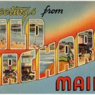 OLD ORCHARD, Maine large letter linen postcard Tichnor
