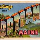 PORTLAND, Maine large letter linen postcard Teich