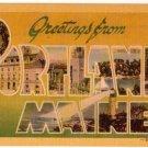 PORTLAND, Maine large letter linen postcard Dexter