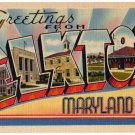 ELKTON, Maryland large letter linen postcard Tichnor