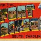 FORT JACKSON, South Carolina large letter linen postcard Eastern Photo