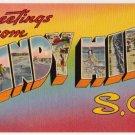 WINDY HILL, South Carolina large letter linen postcard Tichnor