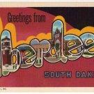 ABERDEEN, South Dakota large letter linen postcard Teich