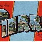 PIERRE, South Dakota large letter linen postcard Kropp
