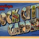 ROCK CITY GARDENS, Tennessee large letter linen postcard Teich