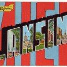 LANSING, Michigan large letter linen postcard Kropp
